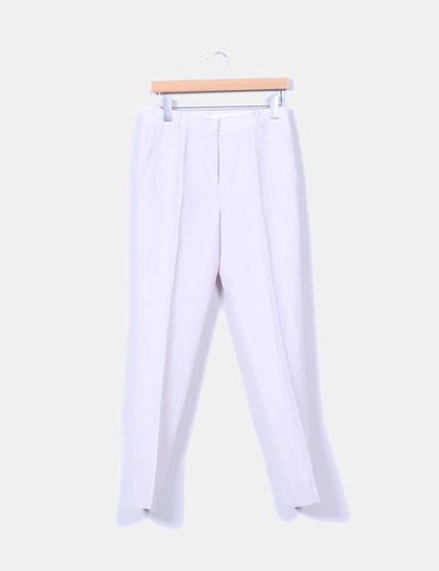 Pantalón beige de pinzas Angel Schlesser