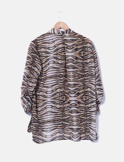 Camisa fluida animal print