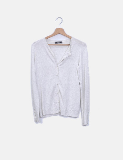 Suéter blanco jaspeado