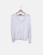 Suéter blanco jaspeado Zara