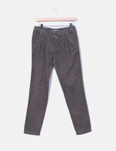De descuento Gris Micolet Pantalón 96 Pana Recto Zara aqwzTE8x