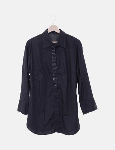 Camisola negra paillettes
