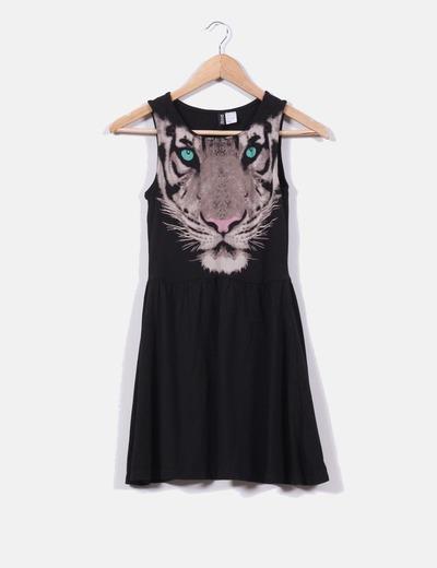 Vestido print tigre H&M