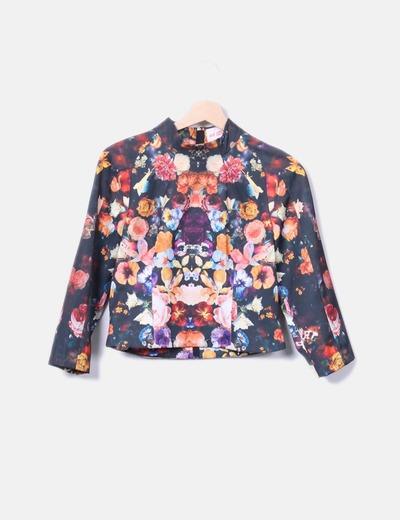 Top estructurado estampado floral H&M