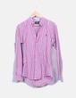 Camisa às riscas rosa Ralph Lauren