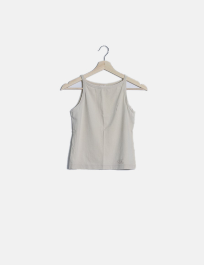 Camiseta beige tirantes basic