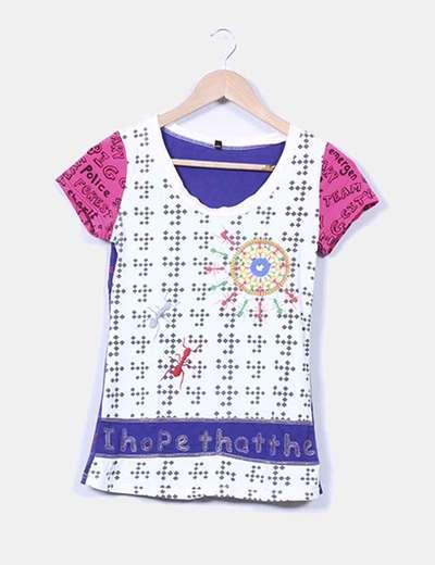 Camiseta estampada hormigas bordadas NoName