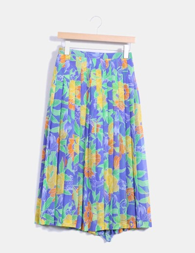 Maxi falda plisada multicolor NoName
