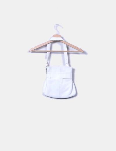 Bolso blanco combinado detalle lazo