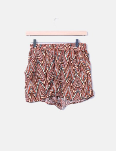 Short con estampado etnico