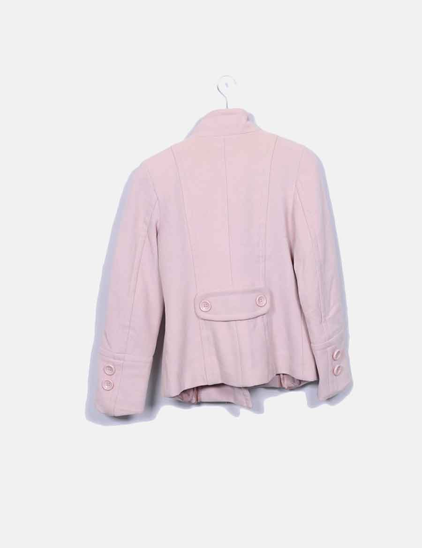 Abrigo zara rosa palo