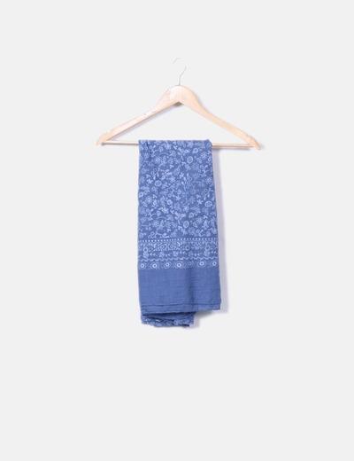 a7e41f196773 NoName Foulard bleu marine imprimé floral (réduction 75%) - Micolet