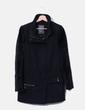 Abrigo largo negro combinado con pelo Guess