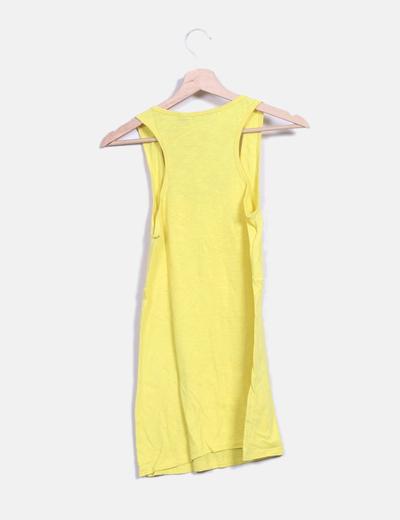 Camiseta espalda nadadora amarilla