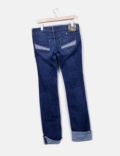 7110da90f9 Bershka Jeans denim oscuro con dobladillo (descuento 78%) - Micolet