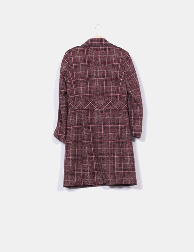 Abrigo combinado texturizado rojo