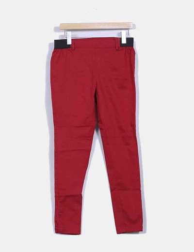 Leggings rojo detalle goma Venca