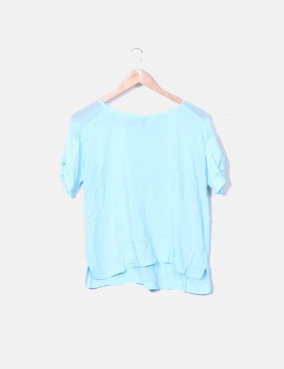 Blusa azul celeste