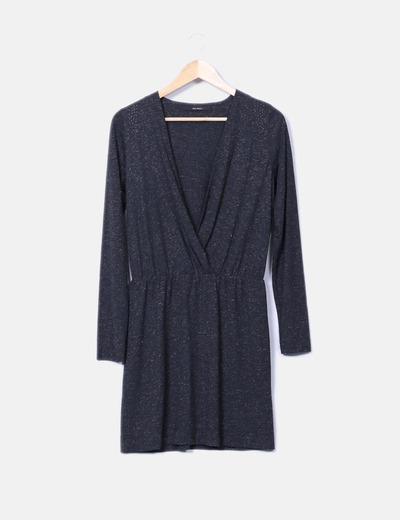Robe grise avec paillettes décolleté sita murt/
