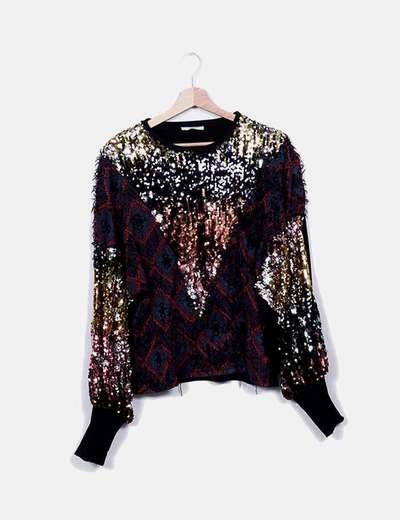Zara Pullover kombiniert mit Pailletten (Rabatt 72 %) - Micolet 0203cd67b5