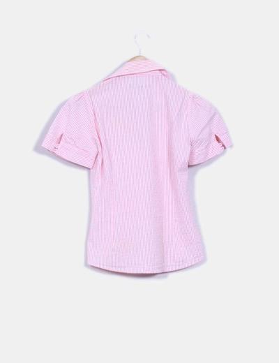 Camisa rayas rosa texturizada