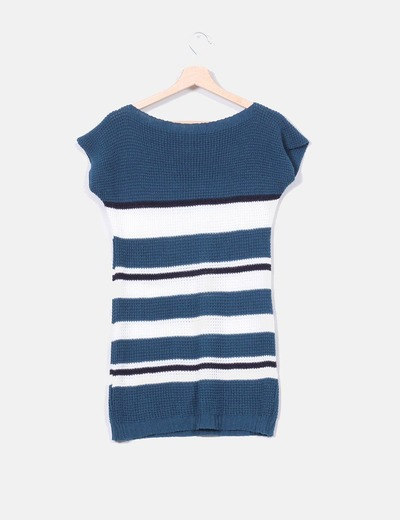 Jersey manga corta de punto tricolor
