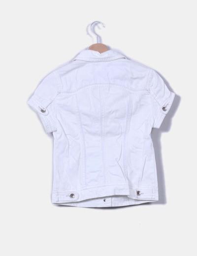 Chaqueta blanca manga corta