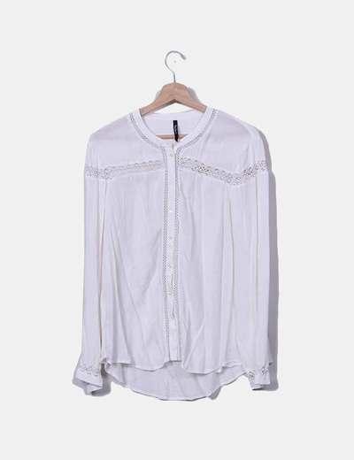 Blusa combinada con manga larga