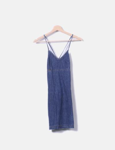 Vestido pichi denim
