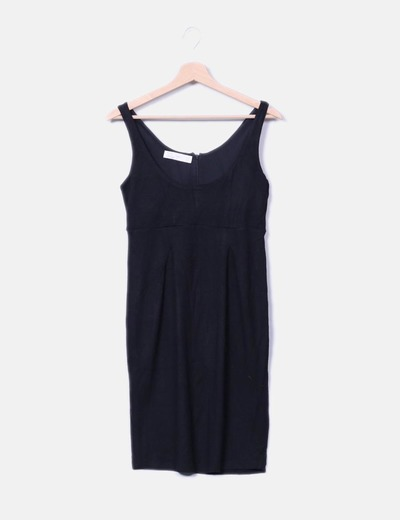 Vestido de punto negro Zara