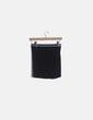 Falda mini negra cintura raya blanca Pull&Bear