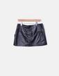 Mini falda polipiel negra Fórmula Joven