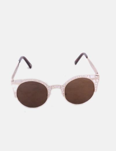 Gafas de sol cat eye metalizadas gold
