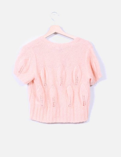 Jersey punto rosa palo