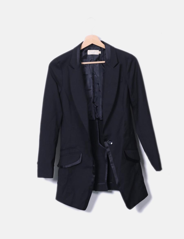 3aa4f1f5797 Mujer online Chaquetas y negra Blazer baratos Abrigos BDBA de larga  HzFUqw0x ...