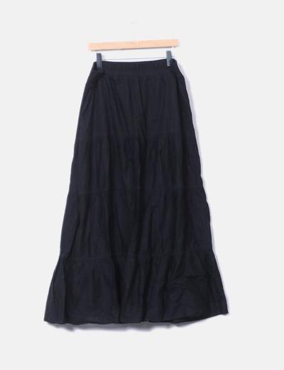 7887a04cf falda larga negra