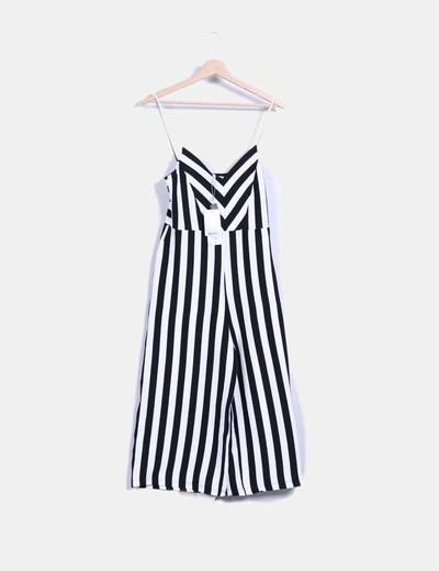 Vestido rayas blanco y negro stradivarius