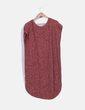 Vestido punto rojo jaspeado con flecos C&A