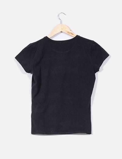 Camiseta básica negra de manga corta