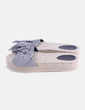 Sandalia rayas con lazo Bershka
