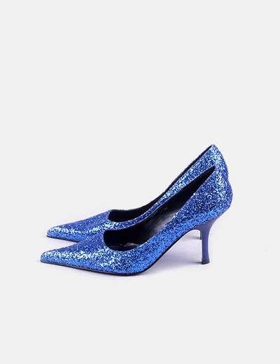 Zapato strass azul