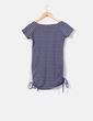 Camiseta de rayas gris y azul estampada NoName