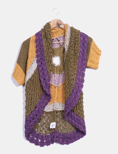 Cárdigan tricot multicolor Desigual