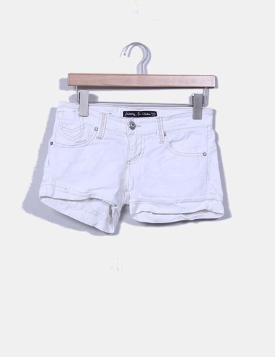 Short blanco denim