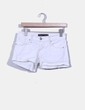 Short blanco denim Stradivarius