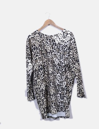 Vestido neopreno animal print