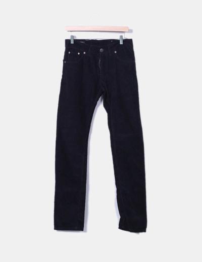 Pantalón negro de pana Springfield