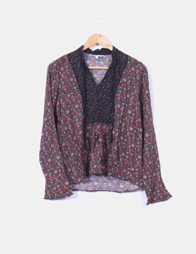 Blusa floral C&A