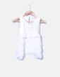 Blusa blanca con detalles plisados Zara