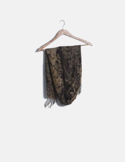 Foulard marrón estampado
